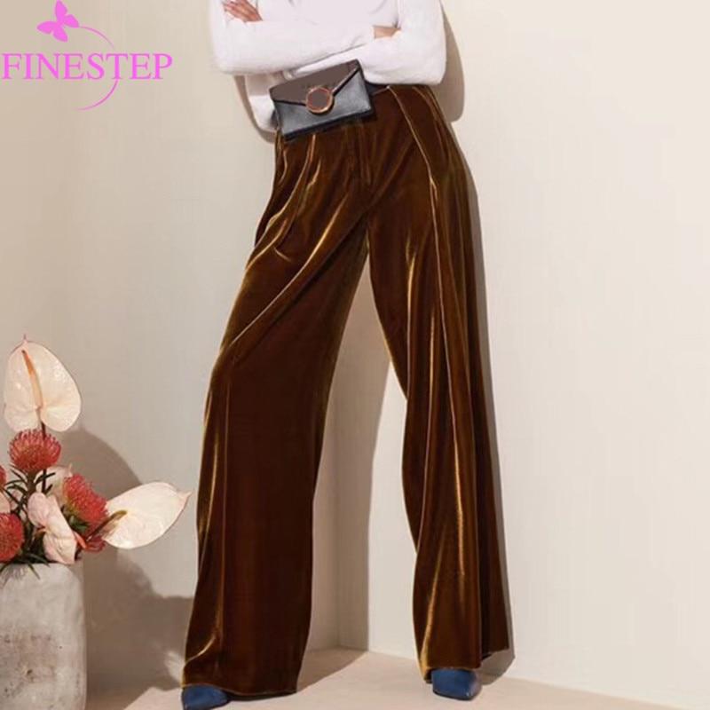 Femmes de Haute Qualité Pantalon Droit 2019 De Mode Marque Pleine Longueur Lâche Pantalon Pour Les Filles