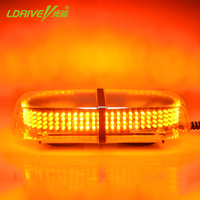 LDRIVE 12V Red Blue Yellow Amber 240 LED Truck Car Emergency Hazard Beacon Warning Police Mini Bar Safety Flash Strobe Light