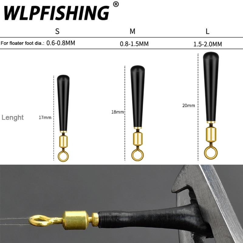 WLPFISHING 10pcs/lot Fishing Float Holders 360 Degree Rotating Freely Swivels Copper Silicone Fishing Accessory Good Helpers