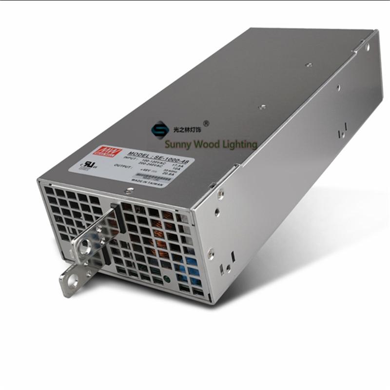 100 240В переменного тока до 48В постоянного тока, 1000 Вт, 48В 20,8а UL перечисленные источники питания, светодиодный экран, монитор высокой мощности