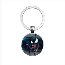 Marvel Venom Figuras Metal Keychain Ring Black Spiderman Venom Key Ring