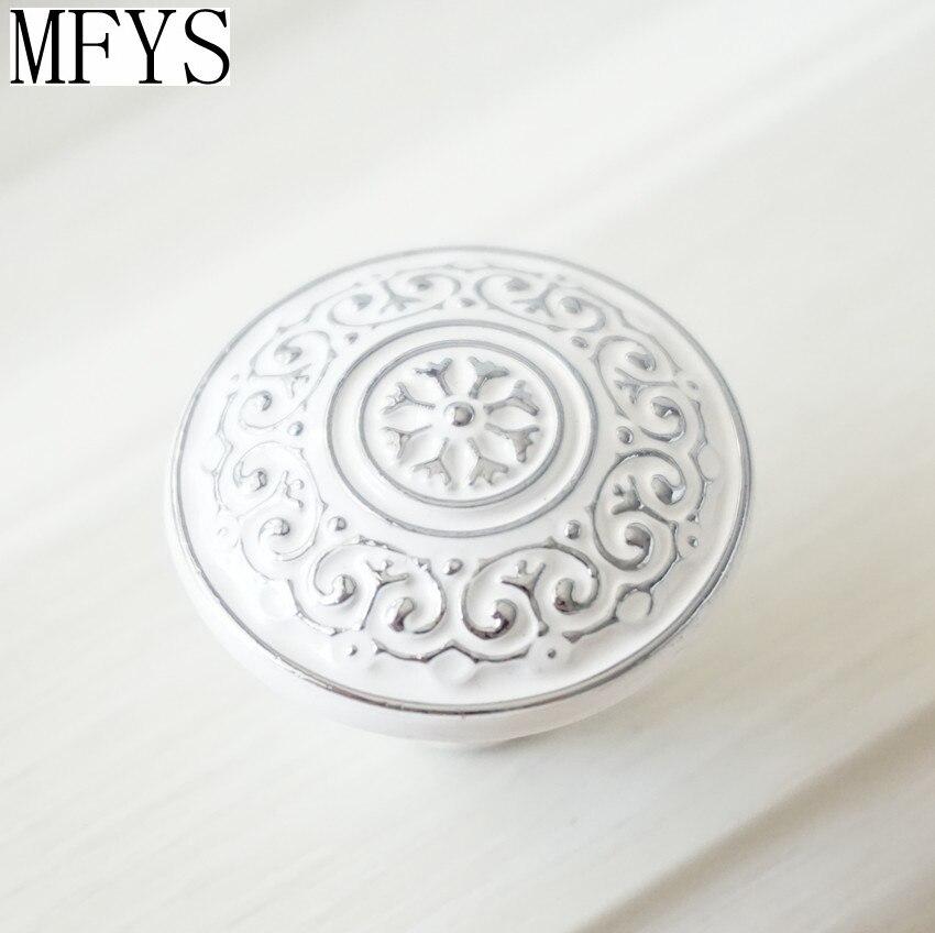 White Silver Dresser Knob Drawer Pulls Handles Cabinet