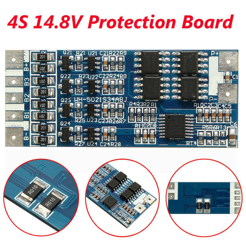 4S 14.8V 8A Li-ion Lithium Single 18650 Battery PCB Protection Board With Balance Function Free Shipping 3s li ion lithium battery battery protection board 10 8v 12 6v 18650 charger free shipping