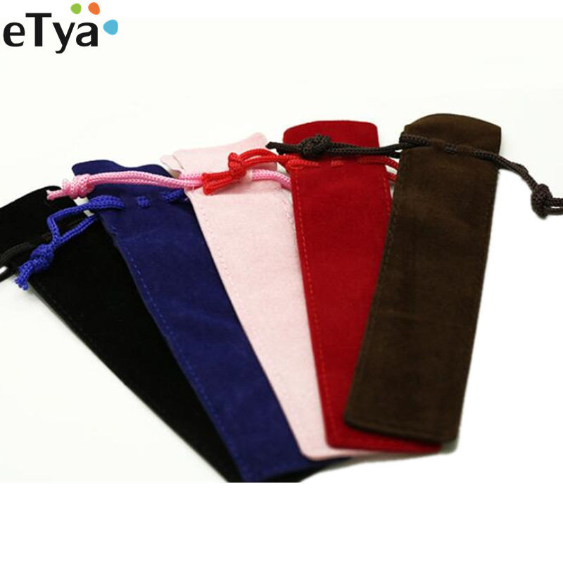 Women Men Velvet Small Drawstring Bag Pouch Packing Bags For Pen Pencil Pouch
