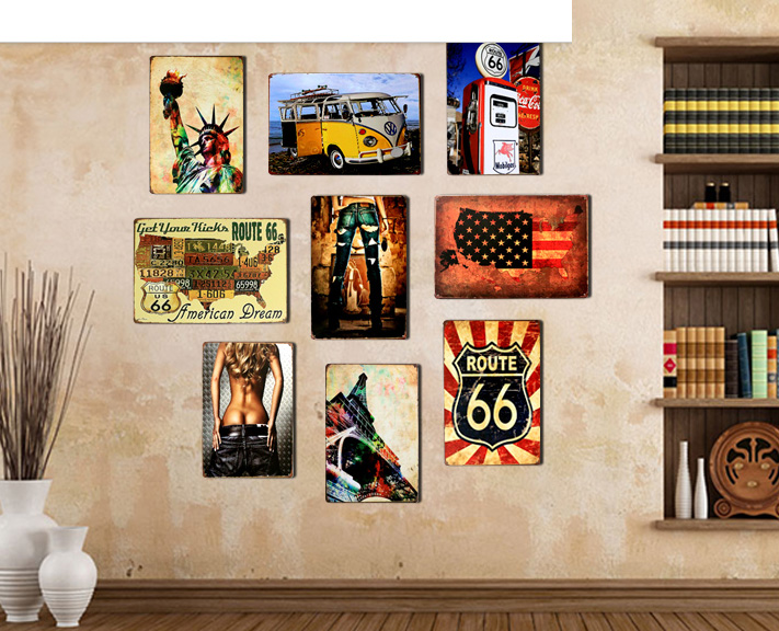 WOW  TOP COOL WALL ART   9 Pieces HOME Office BAR TOP COOL Part 56