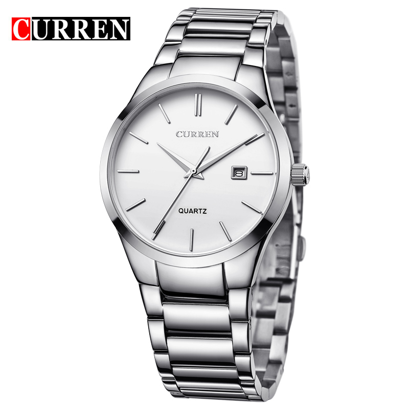 CURREN Luxury Classic Fashion Business Men Watches Display Date Quartz-watch Wristwatch Stainless Steel Male Clock Reloj Hombre
