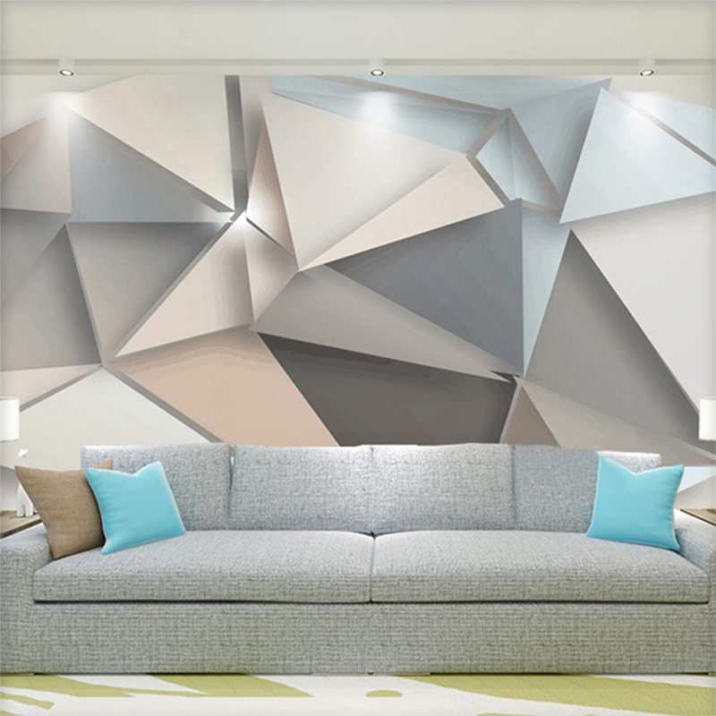 3d Effect Wallpaper For Living Room Personality Abstract European Style Background Wall Mural