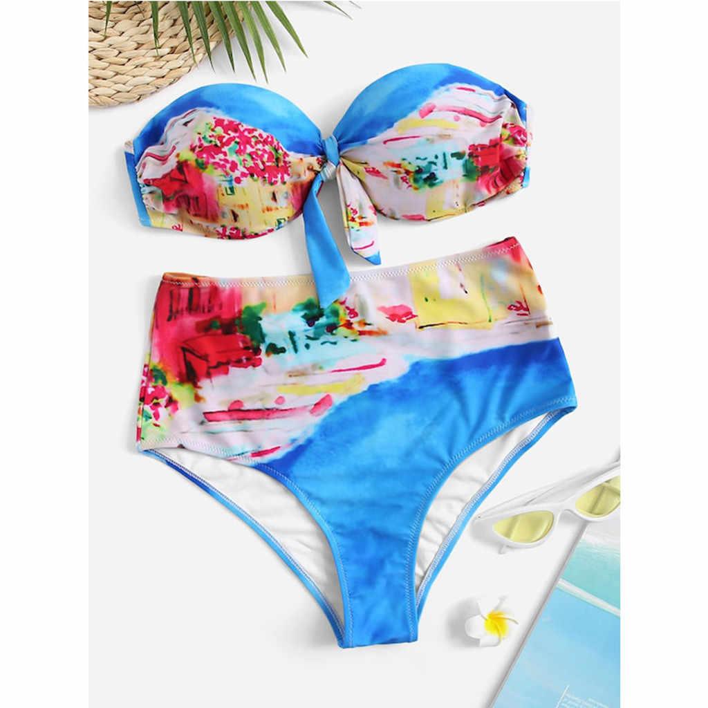 Фото Womail женские сексуальные Лоскутные бикини пуш ап купальные костюмы с подкладкой