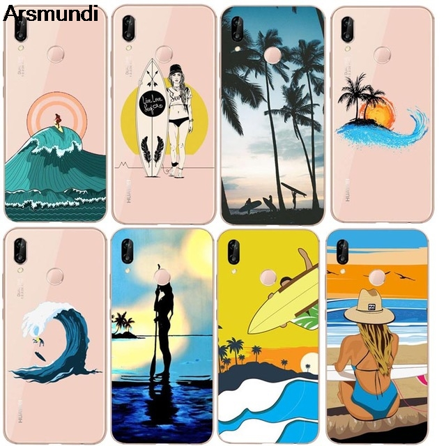 Arsmundi Surfboard and Surf Sunset Phone Cases for iPhone 4S 5C 5S 6S 7 8 PLUS