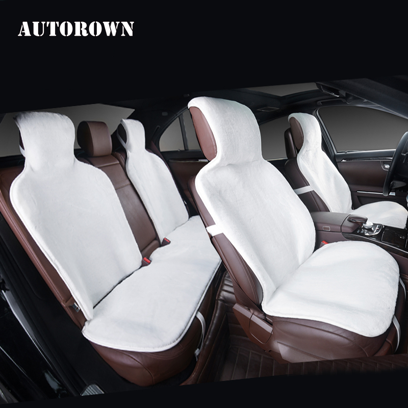 AUTOROWN Auto Seat Cover Universal Size For All Car Four Seasons Faux Fur Auto Accessories Seat Cover For Kia Toyota Honda Lexus