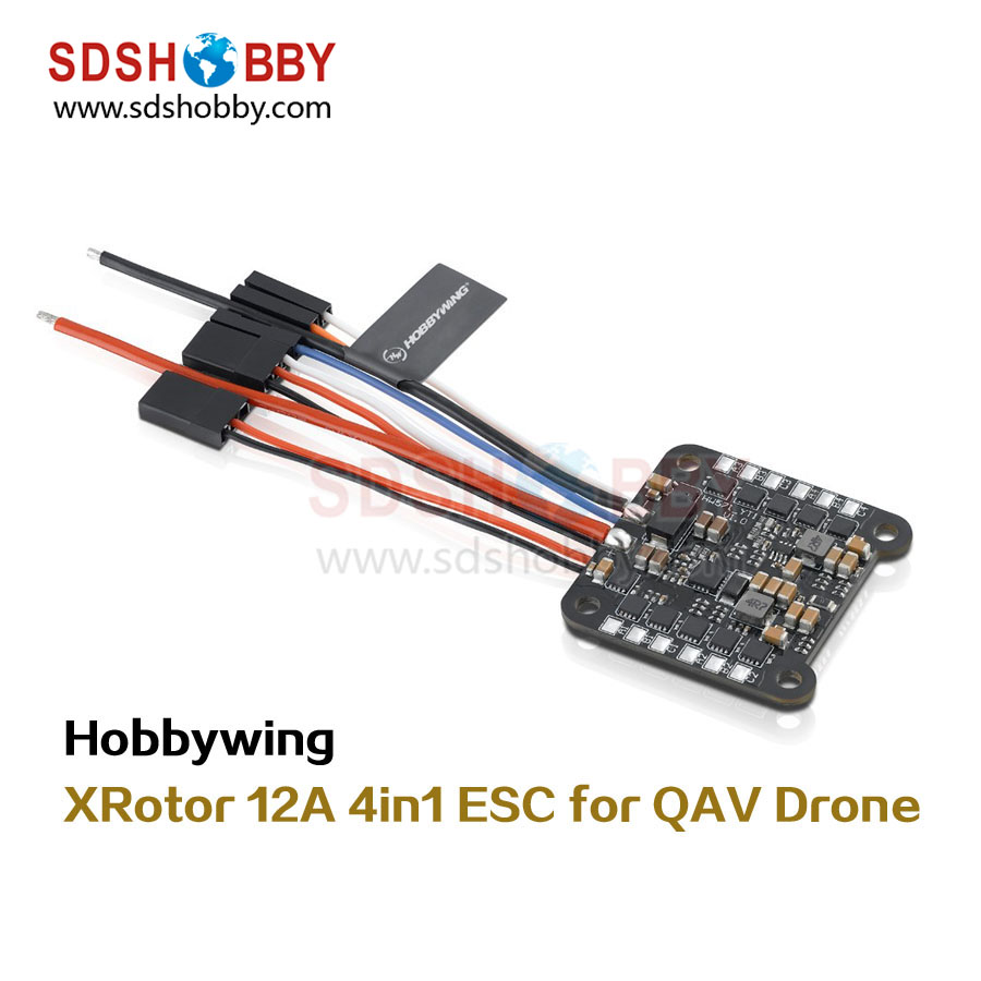 Hobbywing XRotor Micro 4in1 12A ESC Electronic Speed Controller 1-4S for 150mm Wheelbase QAV Drones xrotor micro blheli 30a 2 4s esc electronic speed controller for hobbywing original rc helicopter accessories