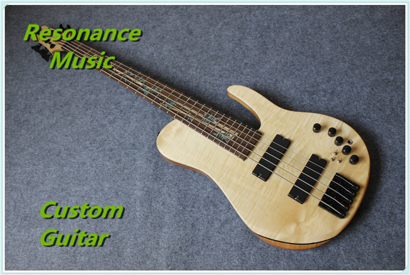 Limited Edition Custom Shop 5 Strings Dragonfly Electric Bass Guitar Maple Neck-through Bamboo Inlay China OEM Factory china oem firehawk shop guitar hot selling tl electric guitar stained maple tiger stripes maple wood color page 3