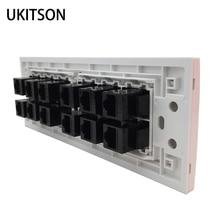 Conector hembra a hembra CAT5E CAT6 RJ45, extensor de 12 enchufes, puerto de toma, tipo 118, toma de Panel