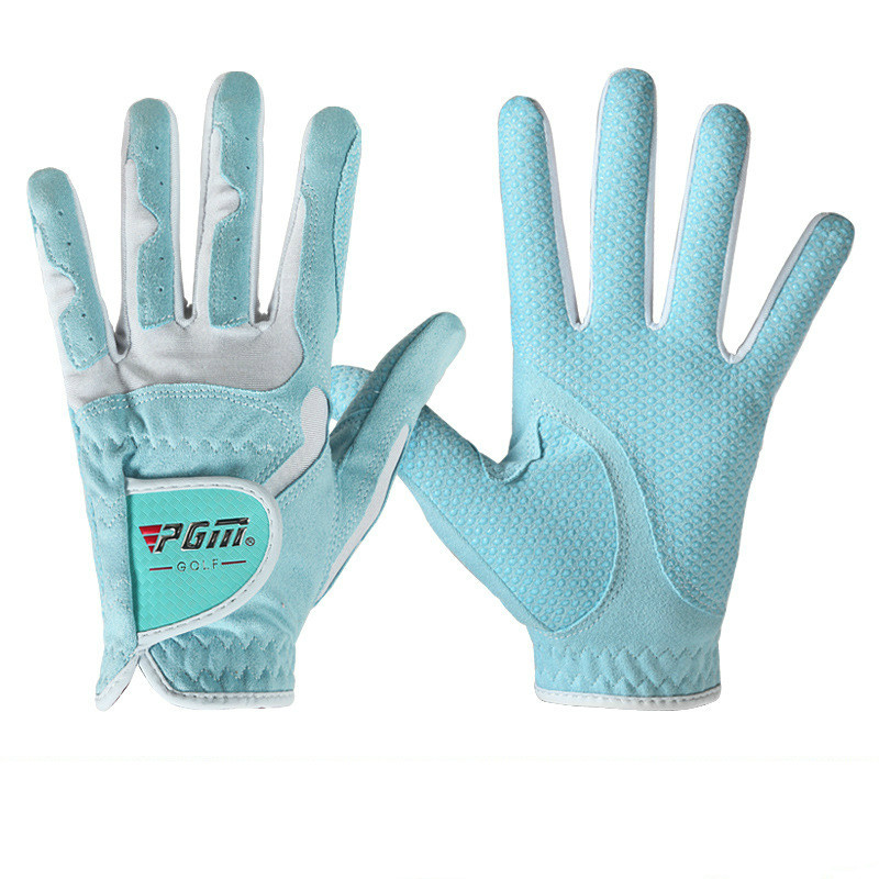 PGM Women's Golf Gloves Left Hand & Right Hand Sport High Quality Nanometer Cloth Golf Gloves Breathable Palm Protection