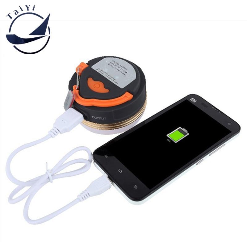 Mini 3 Watt USB Wiederaufladbare Wasserdichte CREE XPE 3 Modi LED Outdoor Wandern Camping Nachtlicht Angeln Gold rand Laterne Zelt Lampe