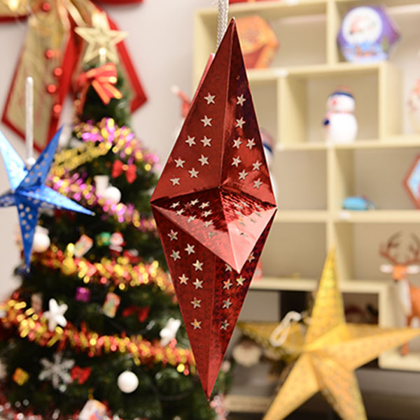 1 Pc New Christmas House Hanging Decorations Hollow Five Pointed Star Ornaments Home Party Christmas