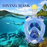 Gopro Kamera Anti Sis Dalış Maskesi Yüzme Eğitimi Için Scuba Sualtı Dalış Tam Kuru Solunum Tüpü Şnorkel Maske Ile Set