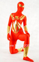 Zentai Female Spiderman Tight Clothes Film Props Cosplay Gold Spider All Inclusive Tights Halloween