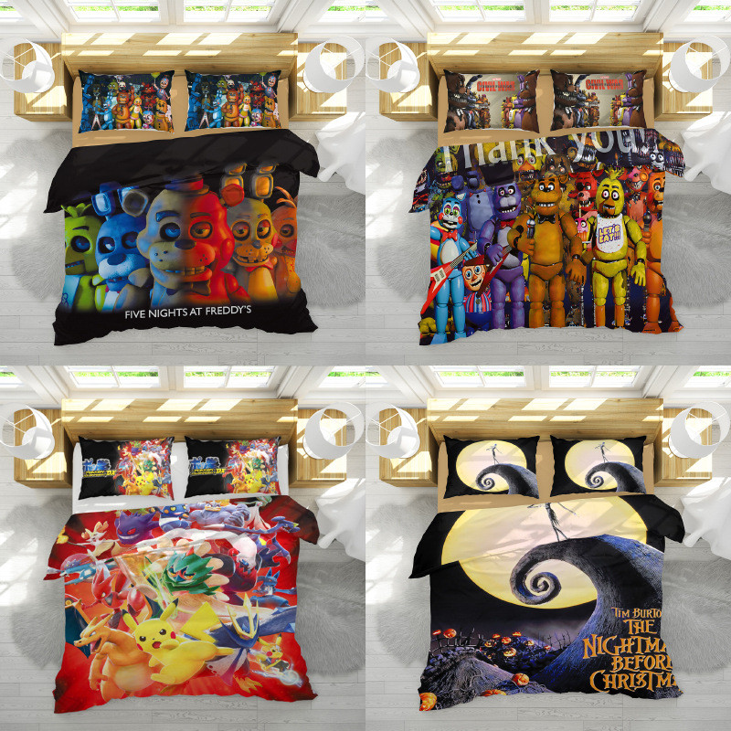 2019 Hot Sale Five Night Game Duvet Cover Set King Double Single Size 2/3pcs Bedclothes
