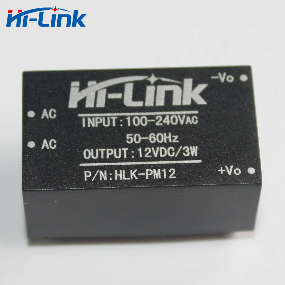 Free shipping 2 pcs/lot AC-DC 220V to 12 V 3W super compact isolated switching mini power supply module HLK-PM12