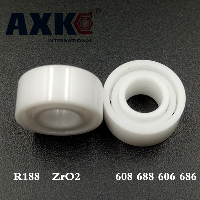 Axk 608 688 606 686 R188 Full Zro2 Ceramic Ball Bearing For Hand Spiner Bearing Long Time free shipping 50pcs lot miniature bearing 688 688 2rs 688 rs l1680 8x16x5 mm high precise bearing usded for toy machine