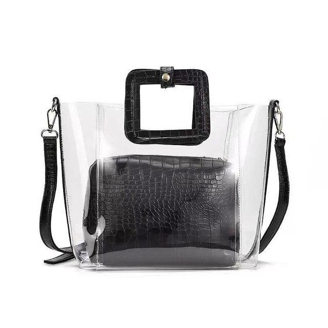 Sac à main en PVC pour femmes Transparent, sac à main et bourse en gelée, sac de plage pour femmes, fourre tout étanche, Design de marque, nouvelle collection 2019