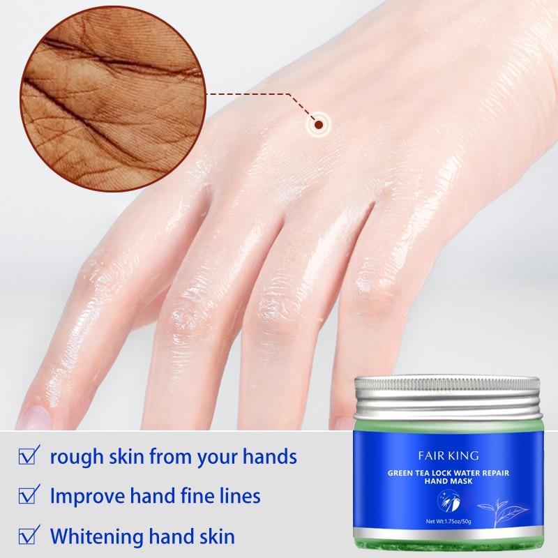 Green Tea Moisturizing Hand Wax Whitening Skin Hand Mask Repair Exfoliating Calluses Film Anti-Aging Hand Skin Treatment Cream Pakistan