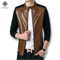Fashion Men's Leather Jackets And Coats Male Leather Suede Slim Clothing Soft Leather Clothes For Man Slim Fit Men Outwears