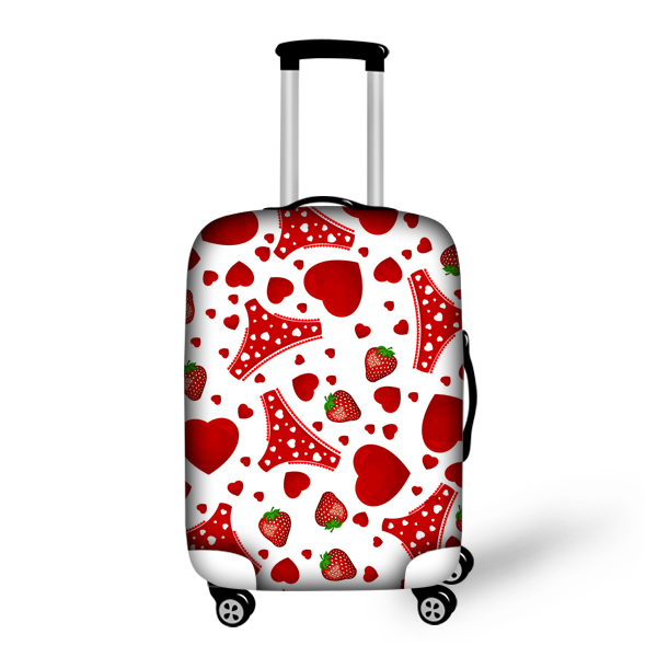 Sweet Heart Strawberry Printing Luggage Protector For Pretty ...