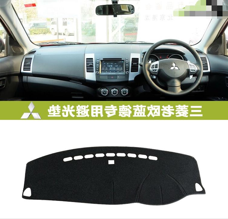 car dashmats car-styling accessories dashboard cover for Mitsubishi Outlander LS GT 2006 2007 2008 2009 2010 2011 2012 2013 rhd ...