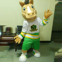 ohlees Sport Team Horse Mascot Suit cartoon Mascot Costumes Halloween Christmas Birthday Party Dress Costume Real Pictures