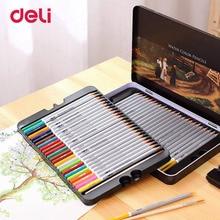 Получить скидку Балык 2018 натурального дерева Цветные карандаши набор 24/36/48/72 Цвета моющиеся акварель ручки для школы рисования эскиз товары для рукоделия