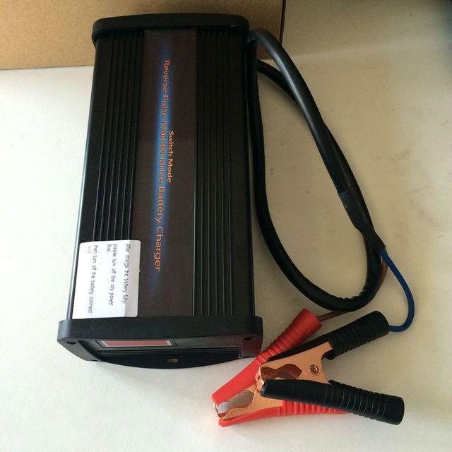 12 V 30A Carregador de Bateria de Carro Desulfation pulso de Alta Freqüência de sete passos livres de Manutenção de Chumbo Ácido Carregador de Bateria