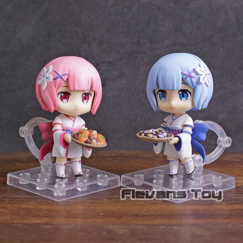 Life In A Different World From Zero Q Version Nendoroid #751 Half-elf Kawaii Emilia Pvc Action Figure Model Toy G306 Anime Re Action & Toy Figures
