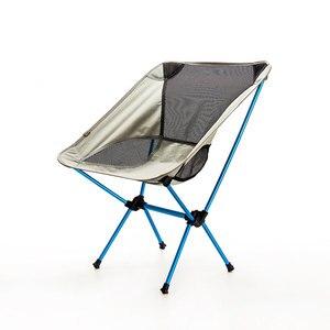 Image 2 - Assento portátil cadeira de pesca leve cinza acampamento fezes dobrável mobiliário ao ar livre jardim novo al portátil cadeiras ultra leves