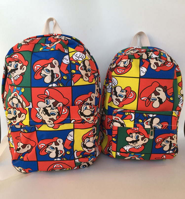 2018 Promotion Hot Sale Mochila Feminina Super Mario Canvas Backpack Anime Zipper 12