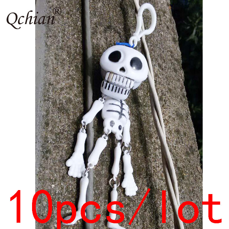 10pcs/lot Plastic Toys Halloween Skull Decorative Pendant Beautiful Gift Backpack Decoration Pendant Jewelry