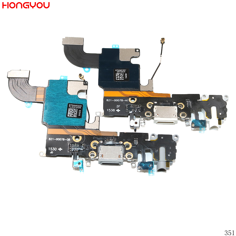 USB Charging Port Connector Charge Dock Socket Jack Plug Flex Cable With Headphone Audio Jack For <font><b>6S</b></font> 4.7inch image