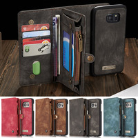 XINGDUO samsung case s9 galaxy Leather Galaxy S6 Edge S7 S8 Plus note 8 9 case Multi functional Wallet Leather Magnet back cover
