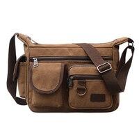 Консервативный стиль сумка на плечо 100% хлопок парусиновая сумка для отдыха или дорожная сумка для мужчин больше молнии Hobos