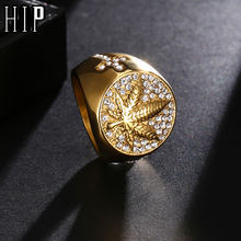 HIP Hop Iced Out Bling Gold สีสแตน(China)