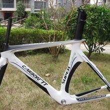 Новое поступление!! Aero Carbon TT Рама для дорожного велосипеда белый/черный