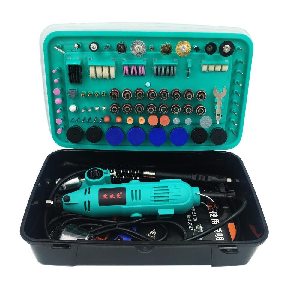 ФОТО 32000rpm Electric Drill Power tools Mini Grinder Rotary tools with polishing tools set mini grinding tools