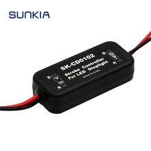 Новейшая вспышка стробоскоп контроллер GS-100A мигалка модуль для LED стоп-сигнала лампы 9-30 в