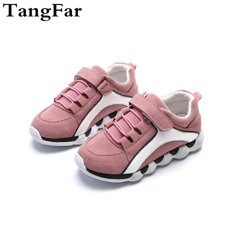 New Light Boy Leisure Sports Shoes Sapato Infantil Girls Pink Running Sneaker Tourism Causal Shoe Wholesale