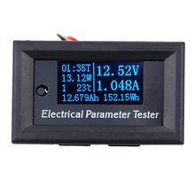 OLED 7-in-1 wattmeter Power Meter swr Electrical Parameter Meter Voltage Current Time Power Energy Capacity Temperature Tester(China)