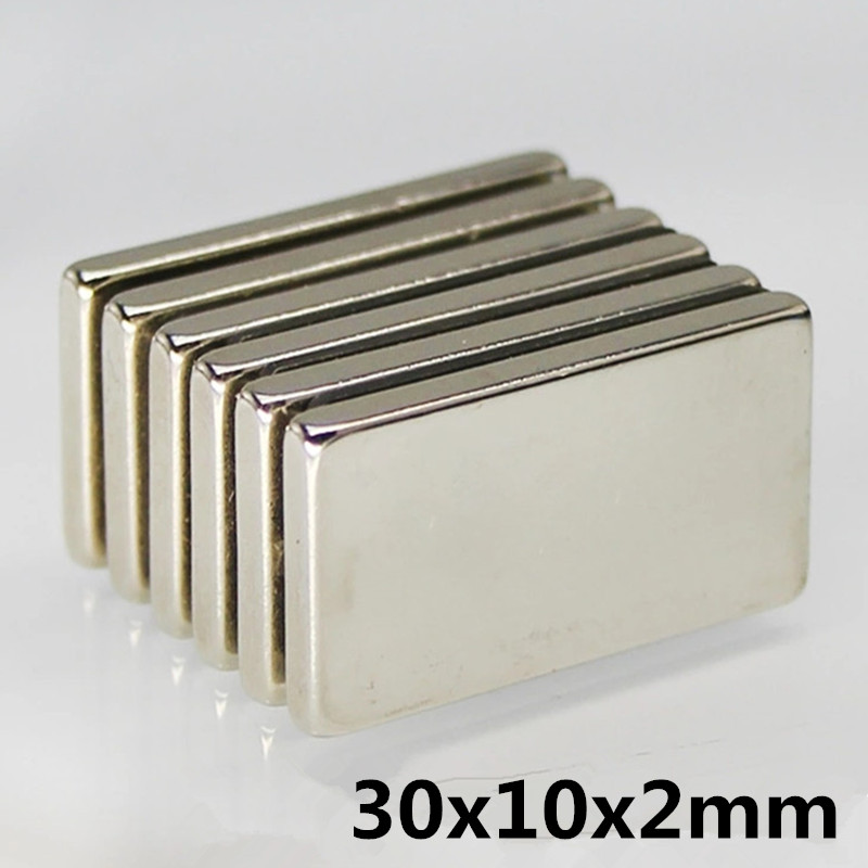 10x Grade N52 Strong Block Magnet Neodymium Rare Earth 20 x 10 x 3mm Rectangular