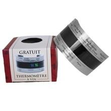 Termómetro Digital de color vino tinto con pantalla LCD de acero inoxidable, termómetro Digital con Sensor de 4-24 grados centígrados