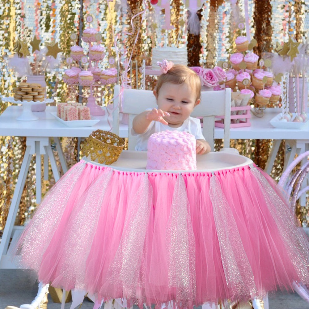 Compare Prices On Decor For Baby Shower Chair Online Shoppingbuy Tutu Tull  Skirt For High Chair