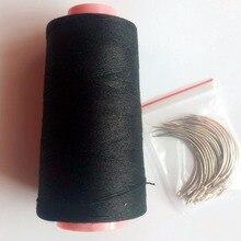 25 шт. C игла с подарком 1 рулон Черная хлопковая нить для плетения волос